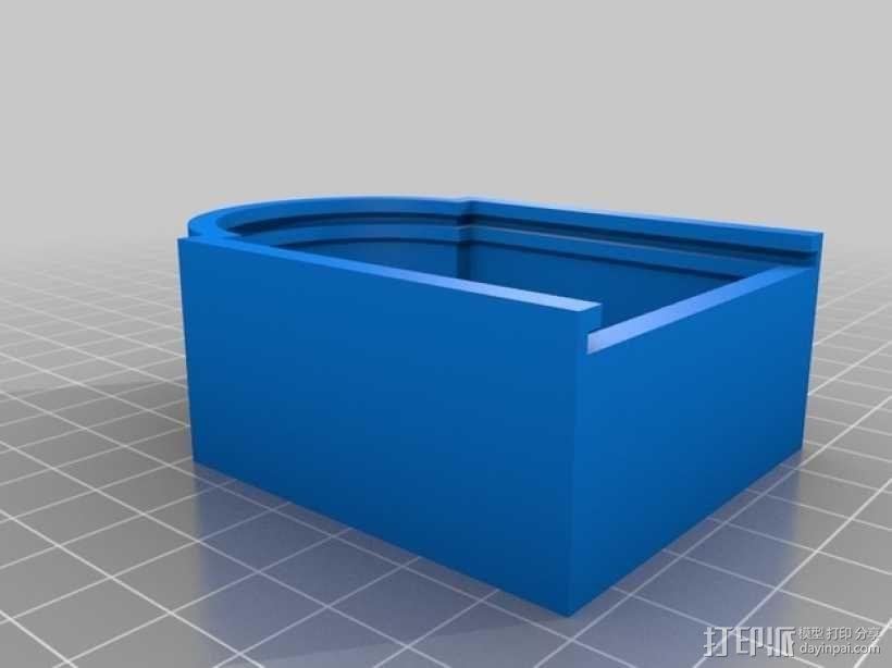 gopro2/3相机固定器/稳定器 3D模型  图13