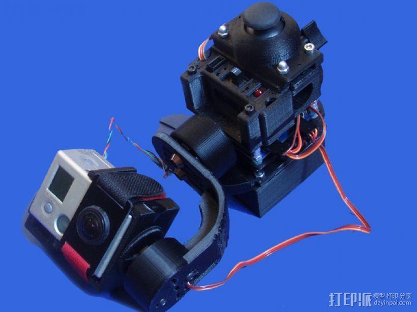gopro2/3相机固定器/稳定器 3D模型  图19