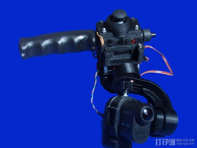 gopro2/3相机固定器/稳定器 3D模型  图20