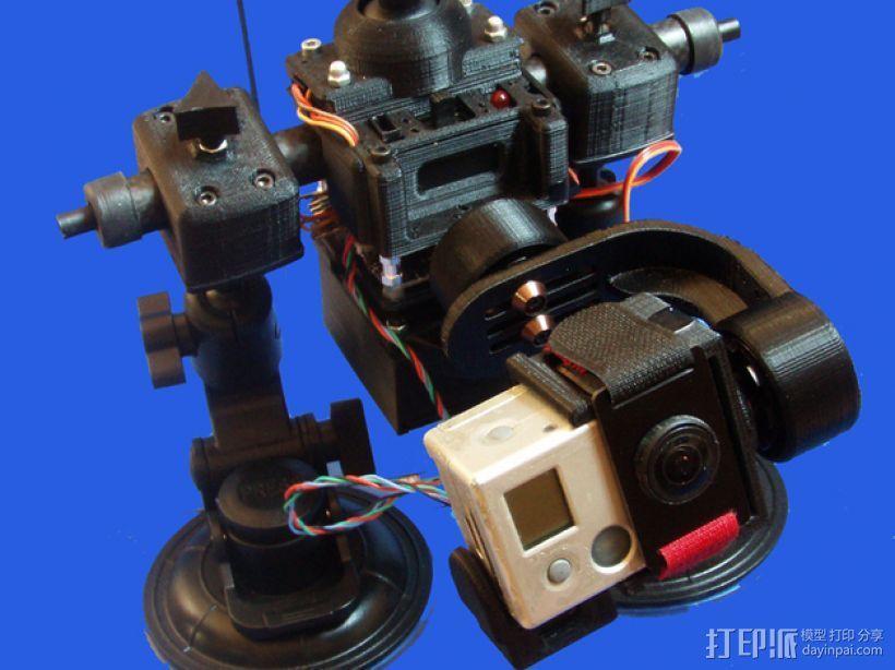 gopro2/3相机固定器/稳定器 3D模型  图23