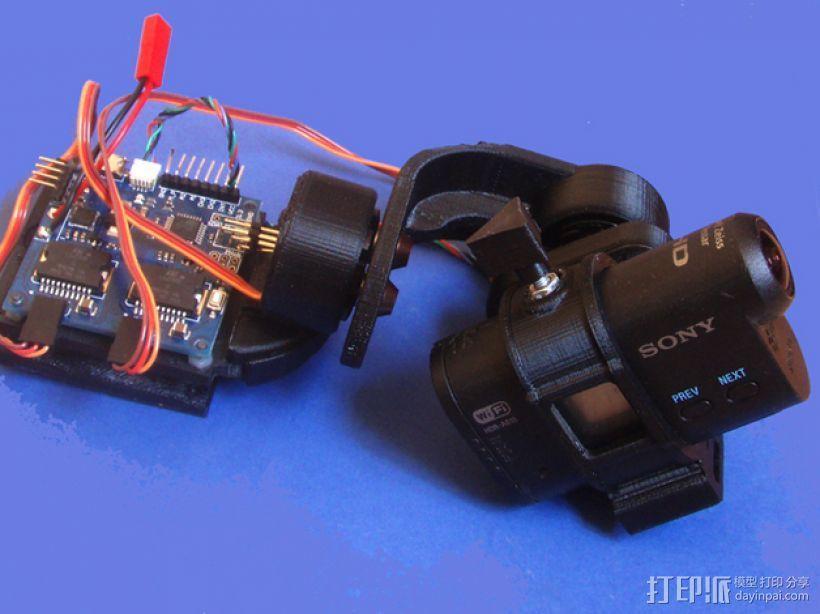gopro2/3相机固定器/稳定器 3D模型  图25