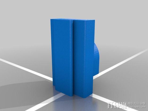 蒸汽朋克眼镜垫圈 3D模型  图2