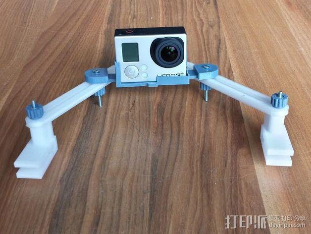 goPro相机支架 3D模型  图1