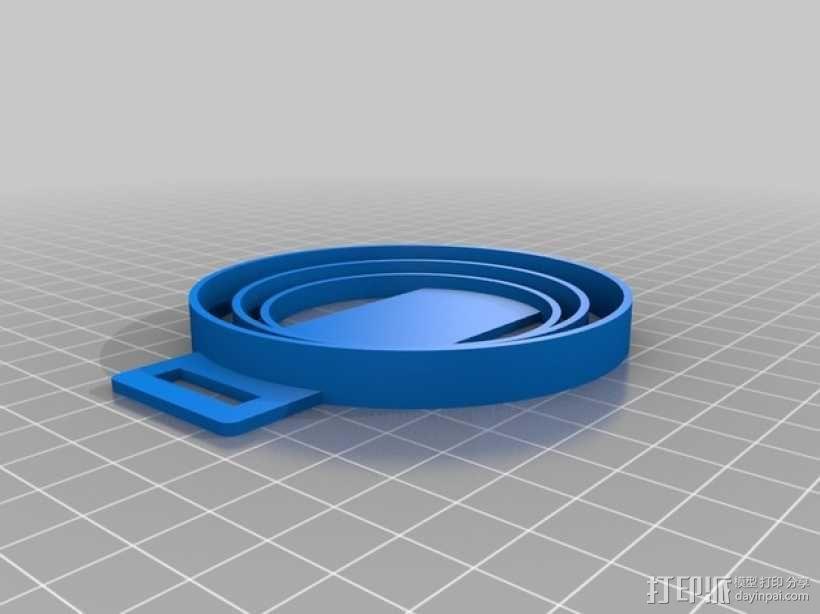 尼康相机镜头盖 收纳盖 3D模型  图1