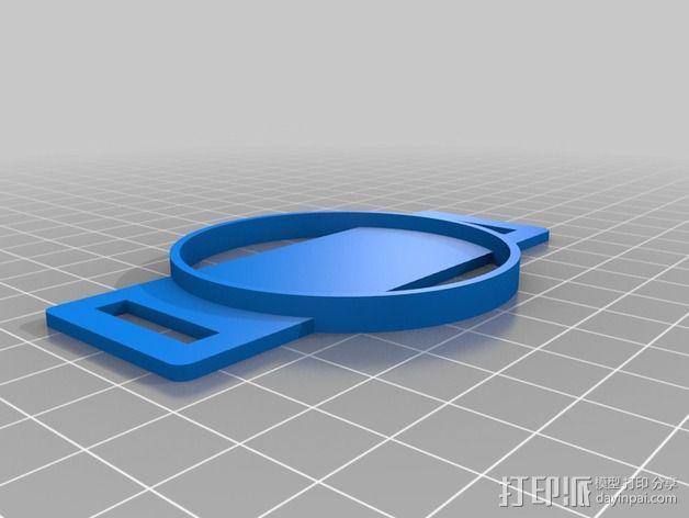 尼康相机镜头盖 收纳盖 3D模型  图3