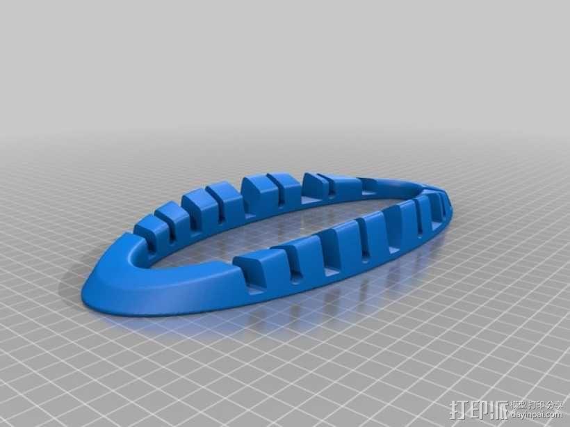 电子产品收纳架 3D模型  图1