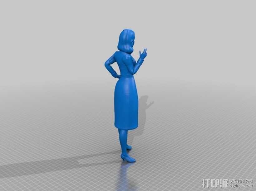 生化奇兵 Elizabeth伊丽莎白 3D模型  图2