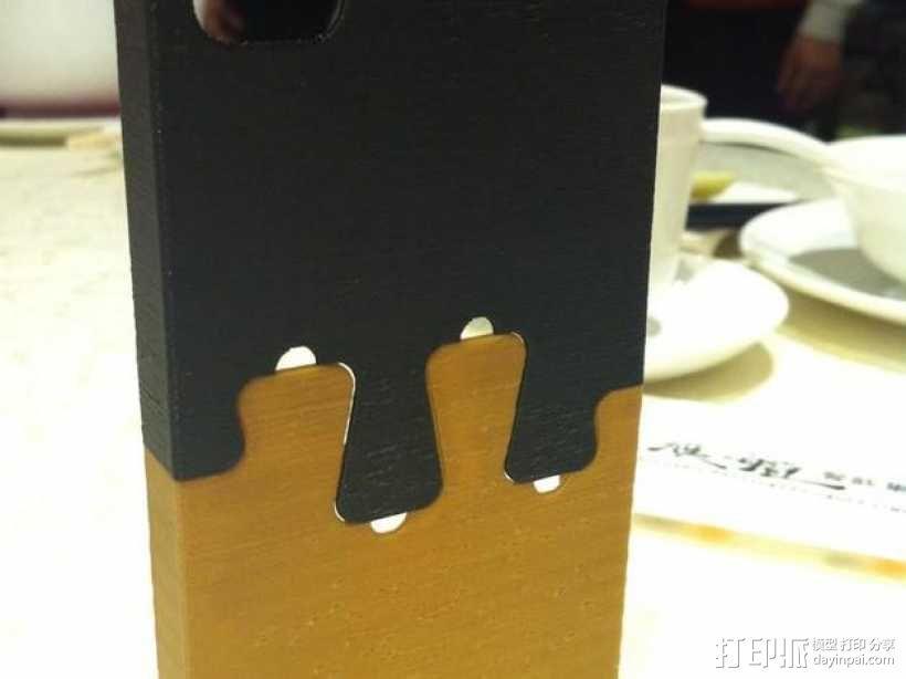鸽子尾巴iPhone4手机保护套 3D模型  图1