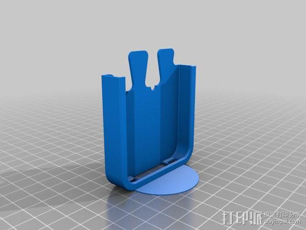 鸽子尾巴iPhone4手机保护套 3D模型  图2