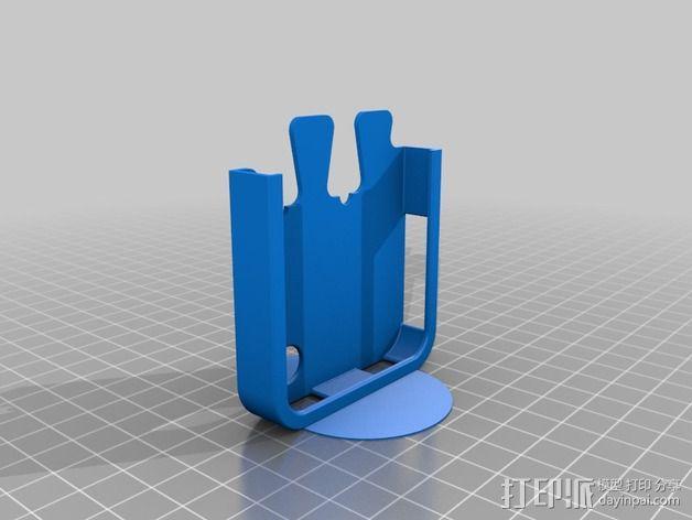 鸽子尾巴iPhone4手机保护套 3D模型  图3