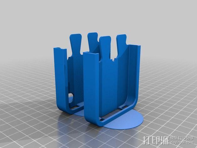 鸽子尾巴iPhone4手机保护套 3D模型  图4