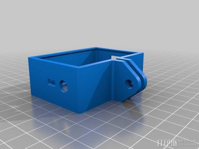 GoPro Hero 3相机保护框 3D模型  图1