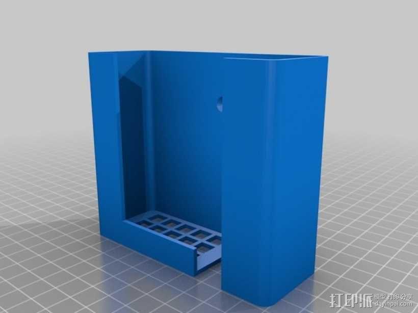 电池适配器架  3D模型  图1