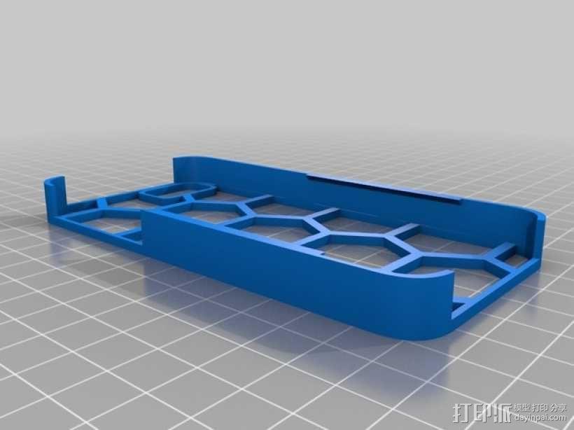 六边形图案iPhone手机外壳 3D模型  图1