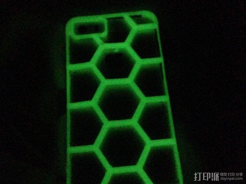 六边形图案iPhone手机外壳 3D模型  图3