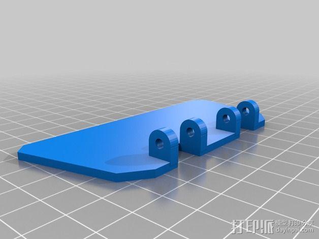 相机挡光板 3D模型  图4