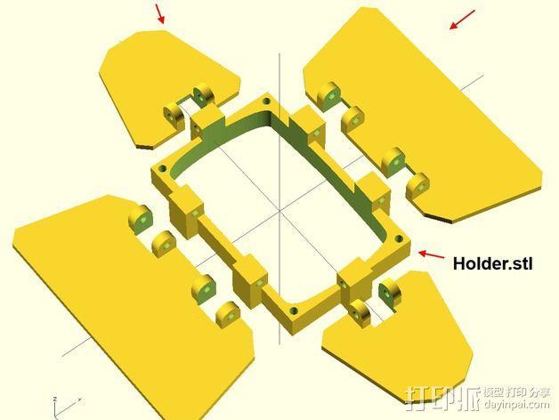 相机挡光板 3D模型  图6