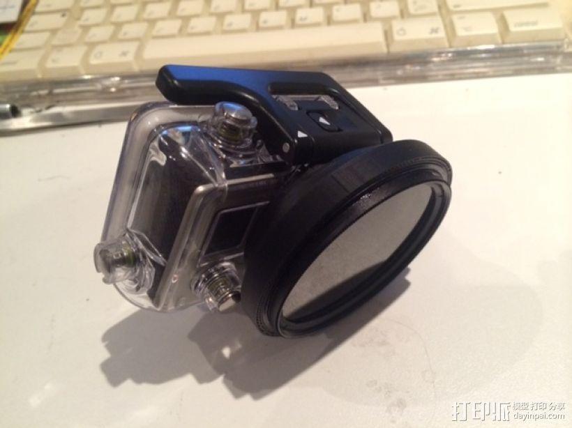 GoPro Hero 3相机减光镜罩 3D模型  图4