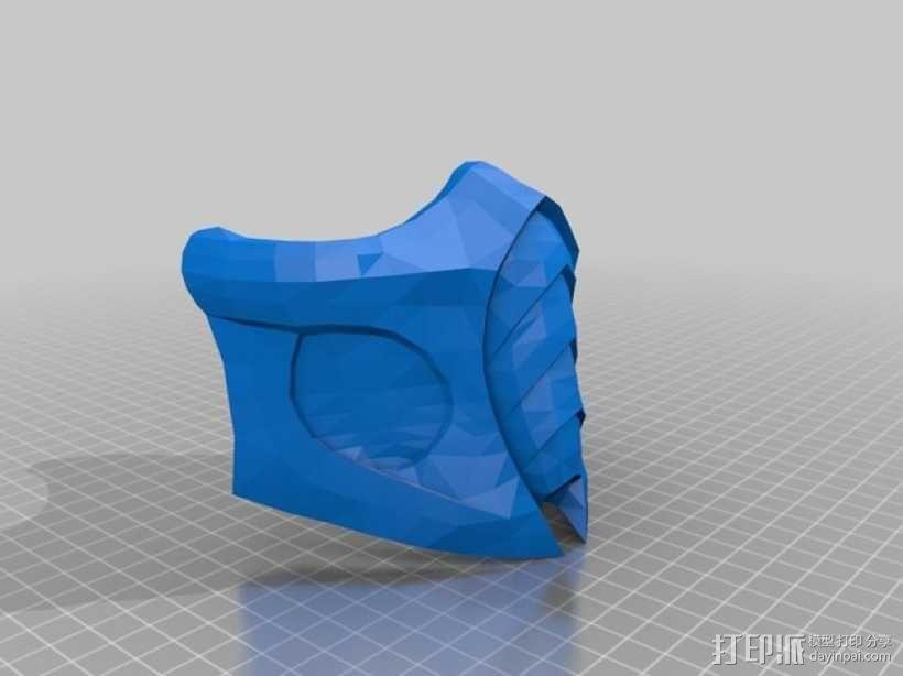 真人快打 面具 3D模型  图1
