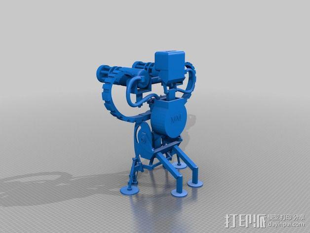 边防要塞 机器人 哨兵 3D模型  图2