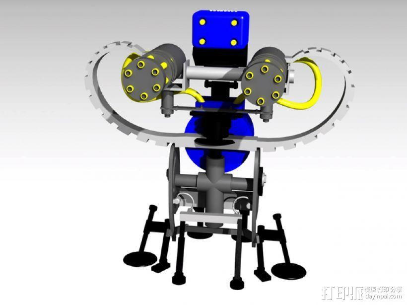 边防要塞 机器人 哨兵 3D模型  图1