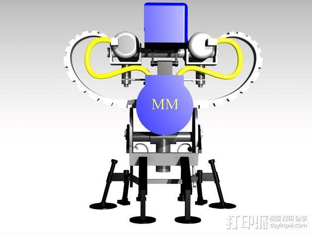 边防要塞 机器人 哨兵 3D模型  图4