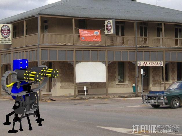 边防要塞 机器人 哨兵 3D模型  图6