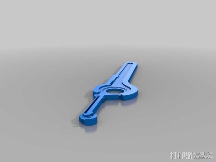异度之刃 刀剑模型 3D模型  图1