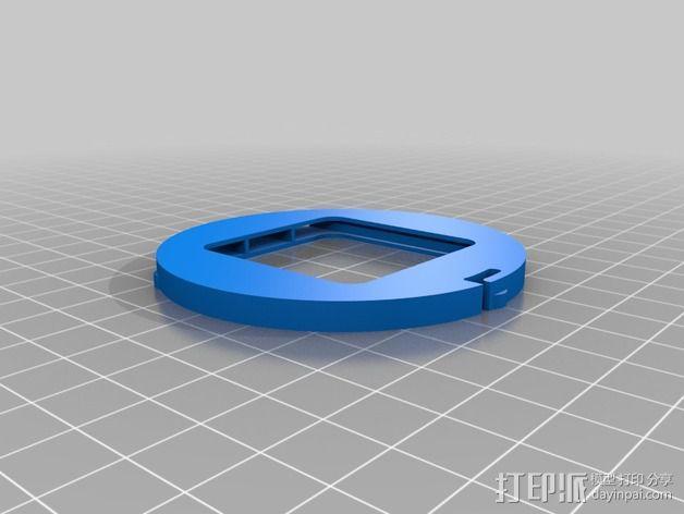 将能相机镜头罩 3D模型  图2