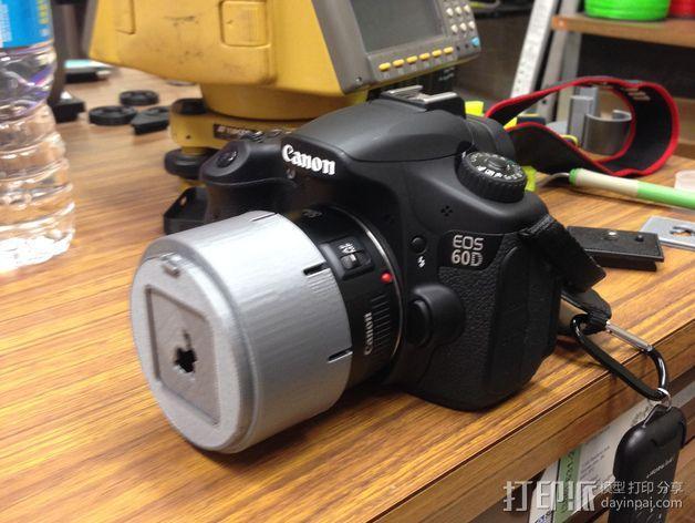 将能相机镜头罩 3D模型  图1