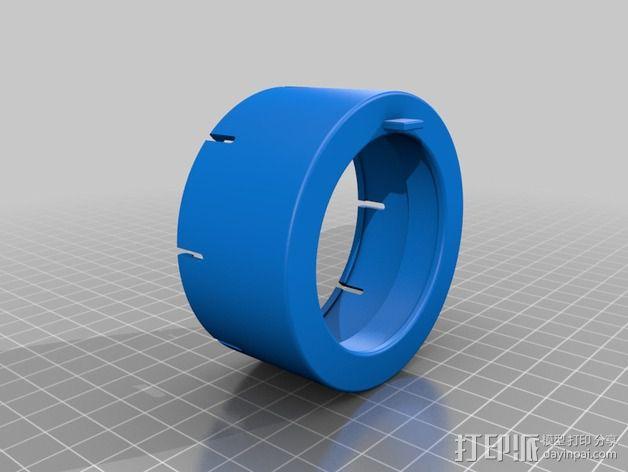 将能相机镜头罩 3D模型  图5