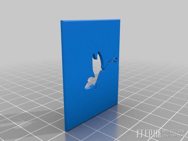 将能相机镜头罩 3D模型  图7