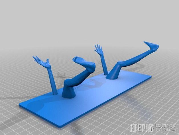 键盘架 3D模型  图4