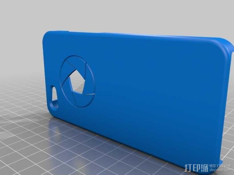 iPhone 5C手机套-小孔 3D模型  图2