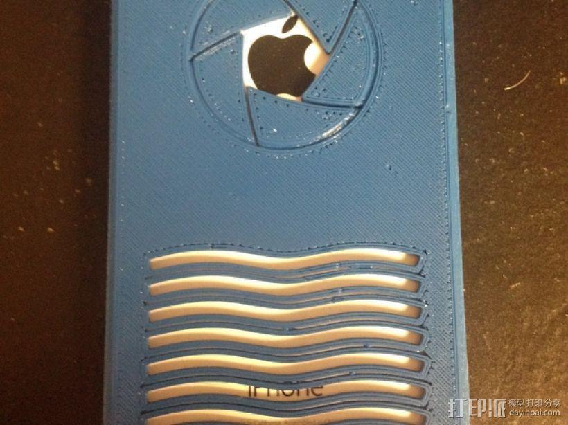 iPhone 5C手机套-小孔 3D模型  图1
