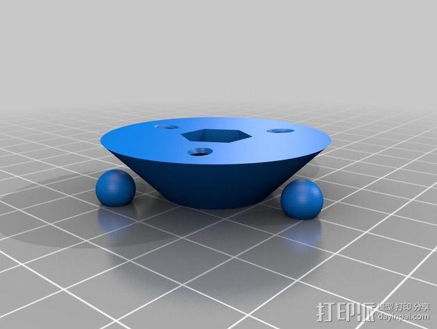 迷你型碳纤维脚架 3D模型  图4
