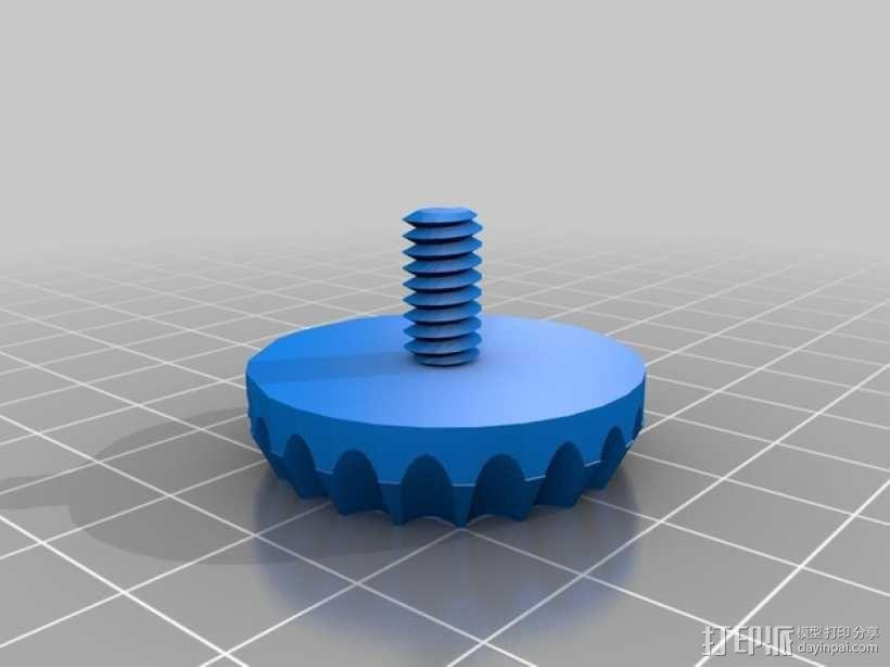 脚架蝶形螺钉 3D模型  图1