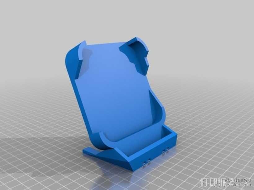 Nexus 5 CHOE QI无线充电板的充电站架 3D模型  图1