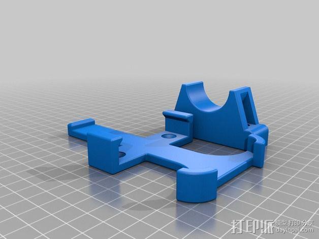改进版iPhone 4s自行车挂载 3D模型  图2