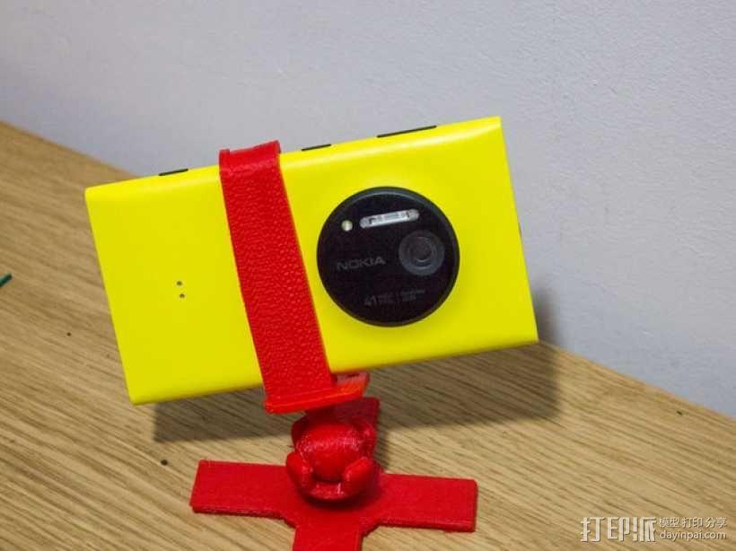Lumia 1020调整式三脚架 3D模型  图1