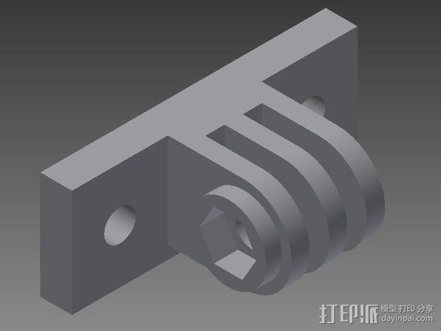 连拍相机座架1号 3D模型  图1