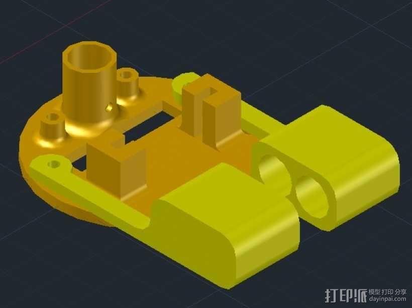 小绘图机器人(绘图仪) 3D模型  图7