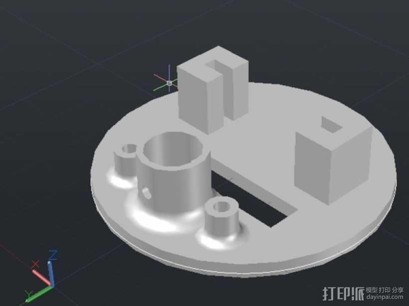 小绘图机器人(绘图仪) 3D模型  图5