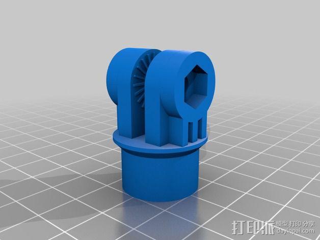 H4N舞台麦克风架适配器 3D模型  图12