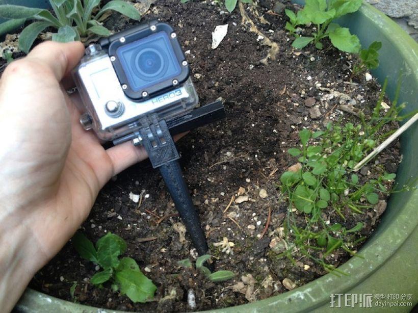 极限运动相机地钉 3D模型  图1