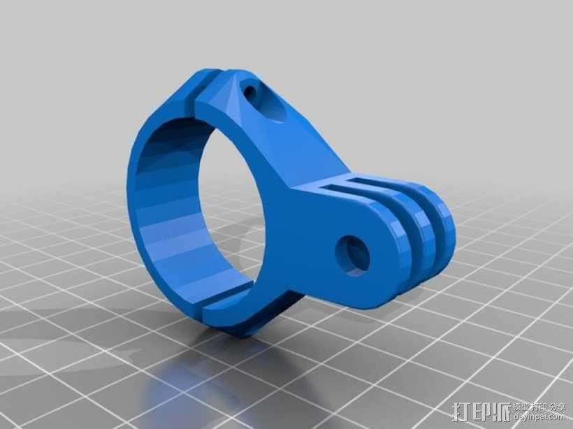 GoPro相机手柄连接器 3D模型  图1