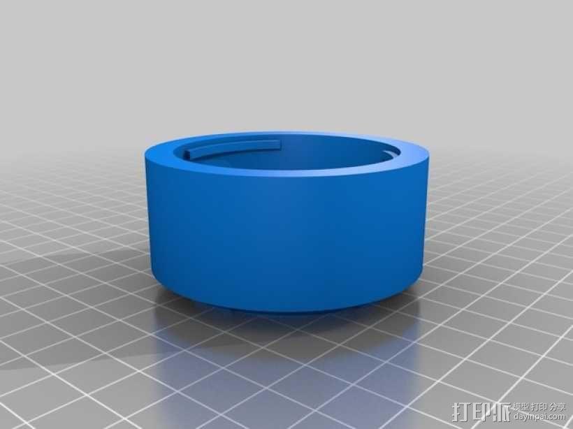 FUJICA-X接索尼E卡口转接环 3D模型  图1