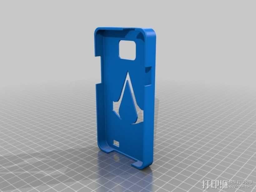三星Galaxy SII:暗杀者信条手机套 3D模型  图1