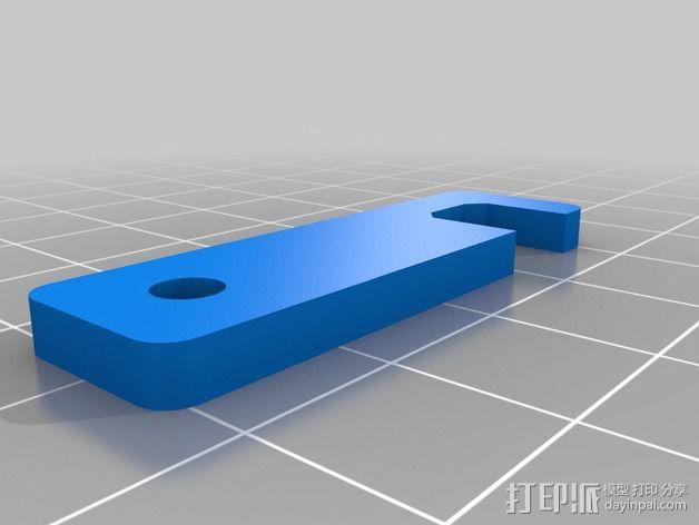 iPhone 5/5s 钥匙链站架 3D模型  图4