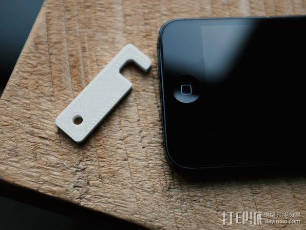 iPhone 5/5s 钥匙链站架 3D模型  图2